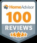 100 reviews with Home Advisor